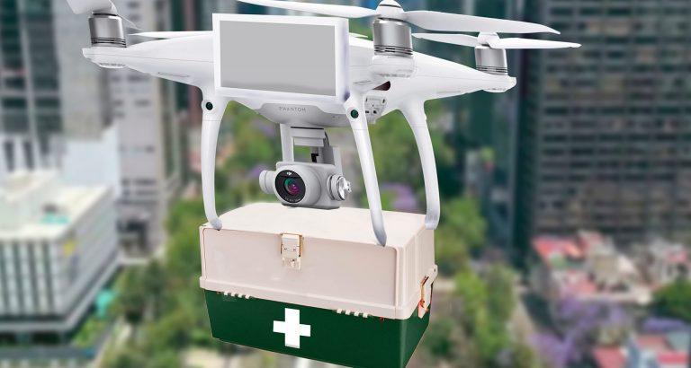 Joven diseña dron de carga para llevar vacunas contra COVID-19