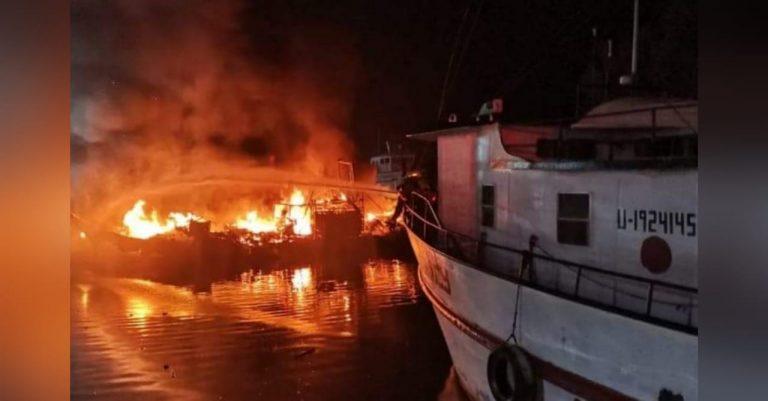 La Ceiba: quema de cinco embarcaciones deja más de L50 mil en pérdidas