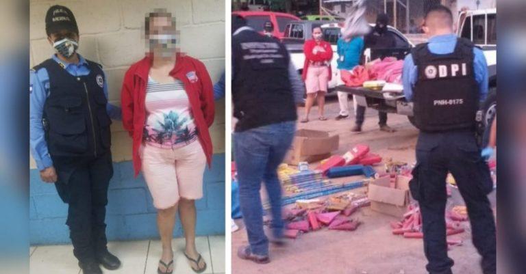 Inician decomisos: cae comerciante con L100 mil de pólvora en Comayagüela