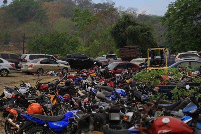ley vehículos decomisados Hondura