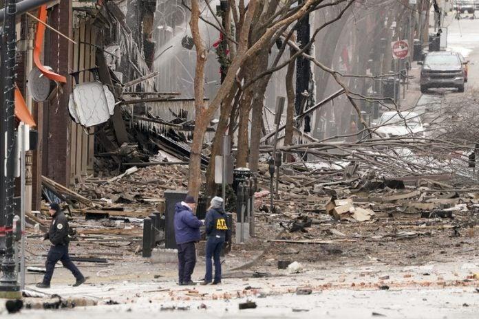 imágenes de la explosión en nashville