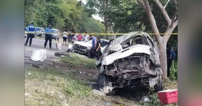 conductor evado carril accidente Telica