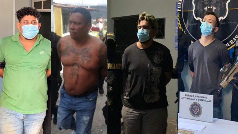 Todos supuestos MS-13: rostros de los sospechosos de empaquetar cuerpos en Honduras
