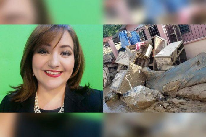 periodista Karina Interiano inundaciones
