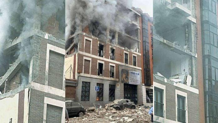 Edificio explosión Madrid