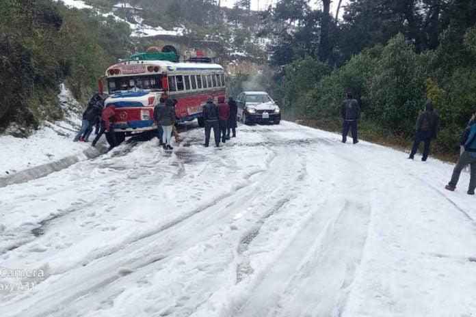 nieve en Guatemala
