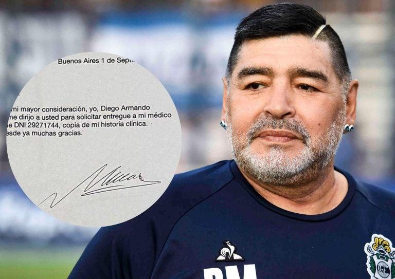 Falsifican la firma de Maradona para acceder a su historia médica; investigan negligencia médica