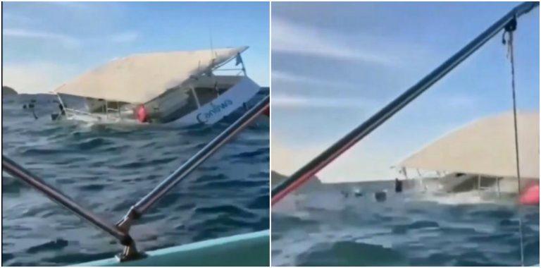 VIDEO  Embarcación se hunde con 60 turistas en Puerto Vallarta y causa «terror»