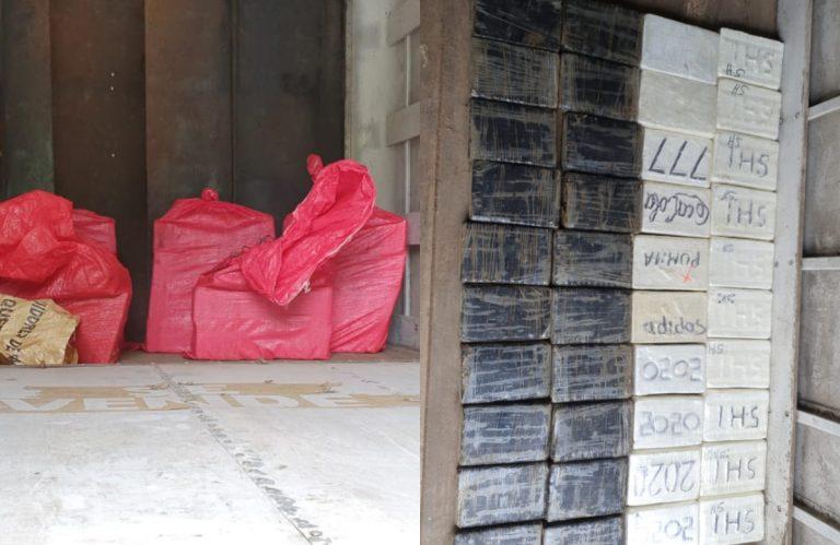 Santa Bárbara: decomisan 178 kilos de supuesto clorhidrato de cocaína en tres autos