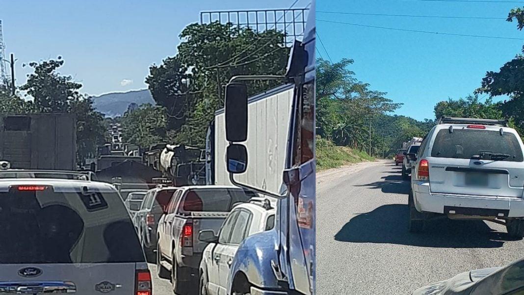 fila de vehículos carretera CA-4