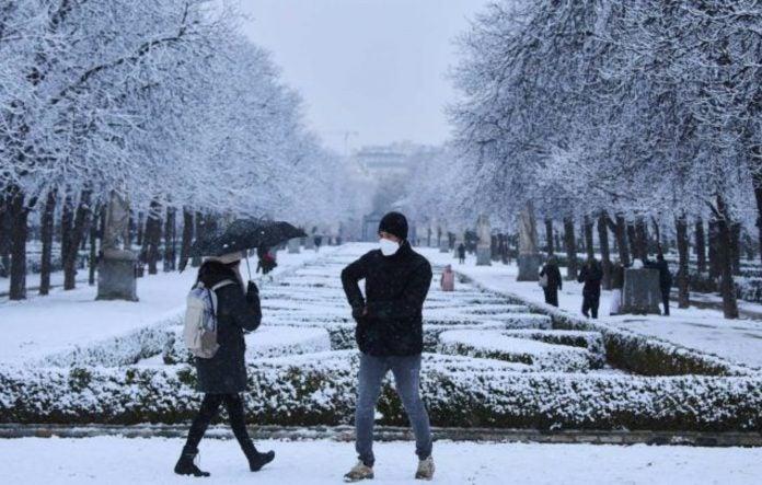 hondureños en madrid nieve