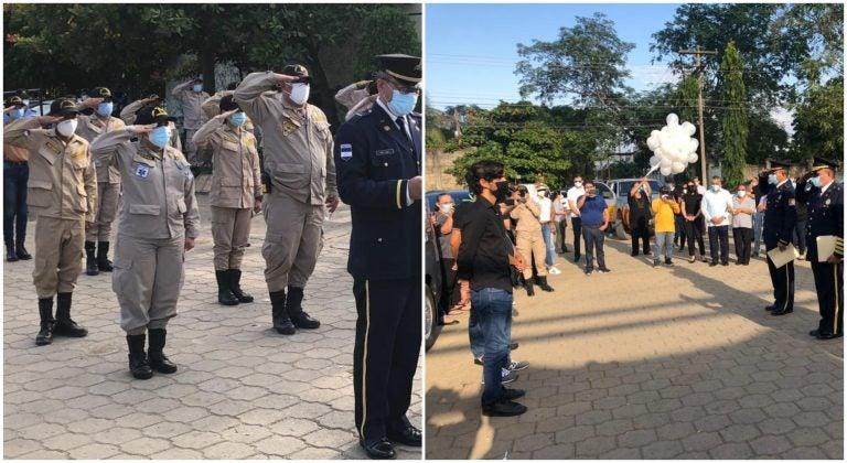 Adiós a un héroe| Despiden al comandante Rodríguez con emotivo homenaje en SPS