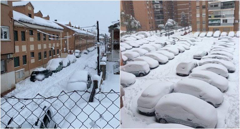 Hondureños revelan experiencias ante «nevada nunca vista» en zonas de España