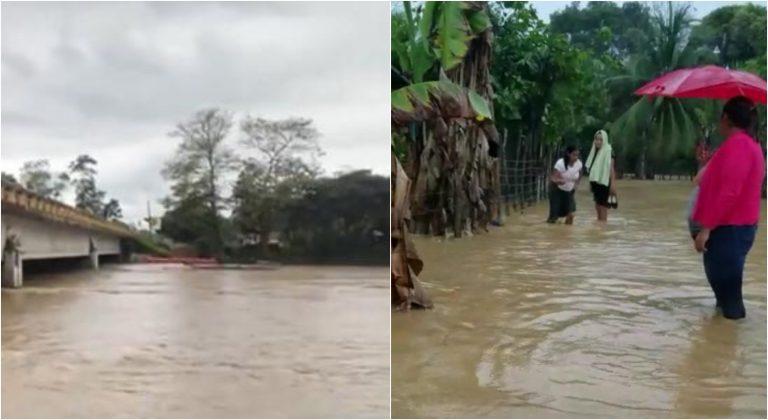Omoa: ríos causan zozobra nuevamente tras recientes lluvias e inundaciones