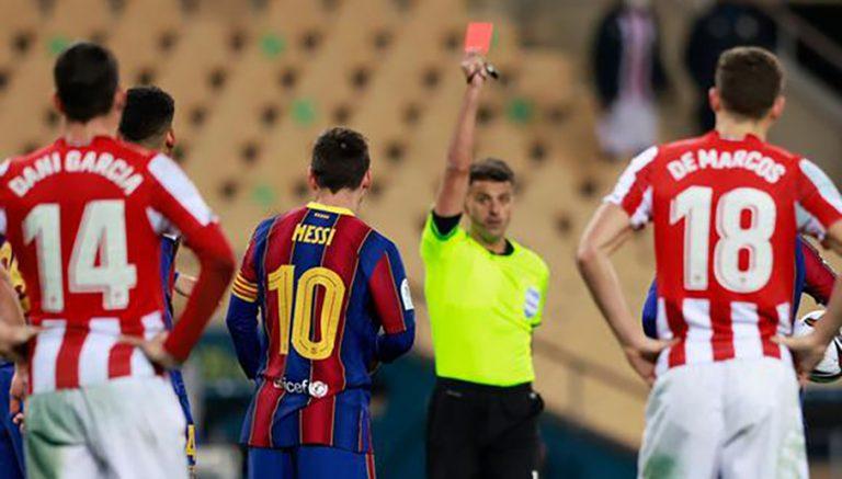 Las sanciones que podría recibir Messi tras su inédita expulsión