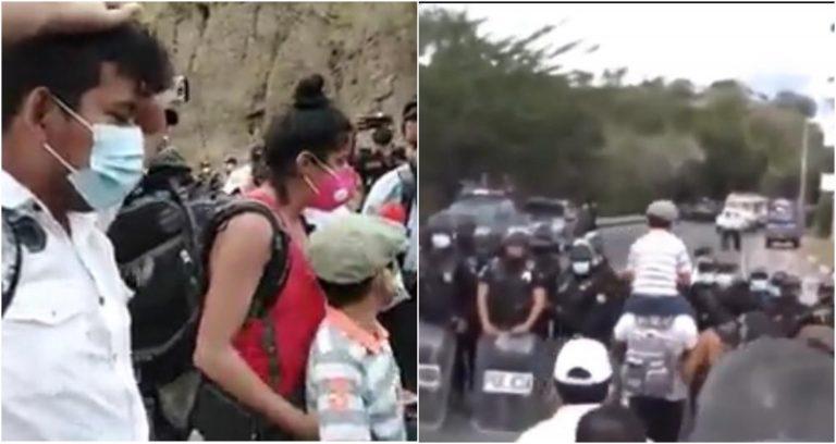 Padres de niño con parálisis estaban dispuestos incluso a recibir golpes para cruzar la frontera