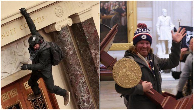 GALERÍA  Situaciones «raras» captadas en el Capitolio de Estados Unidos