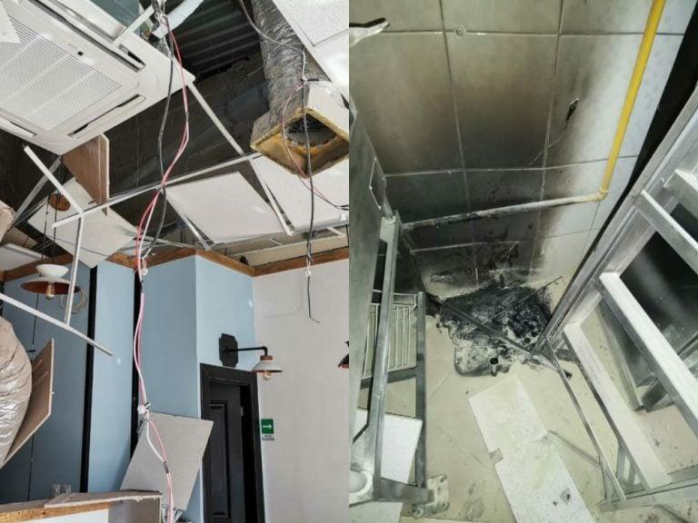TGU: Fuga de gas ocasiona fuerte explosión en negocio de centro comercial