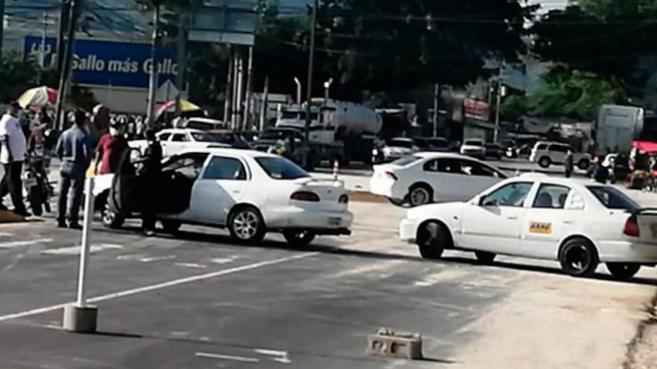 Taxistas tomas de carreteras