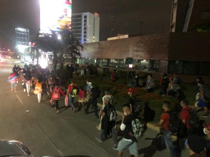 Migrantes hondureños en México