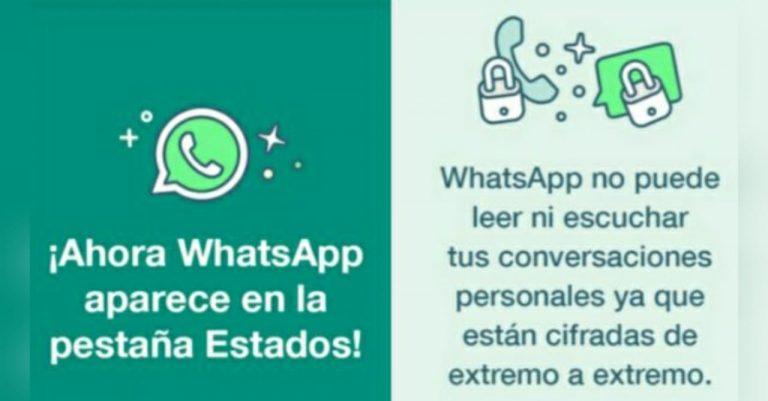 """Luego de críticas, WhatsApp informará de sus cambios mediante """"estados"""""""