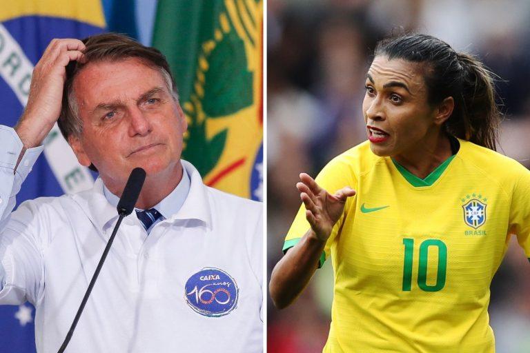 Marta, Neymar y la polémica de Bolsonaro sobre la igualdad salarial en el fútbol