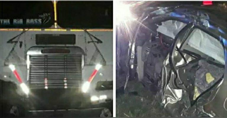 Santa Ana: brutal colisión entre «turismo» y camión deja al menos cuatro heridos
