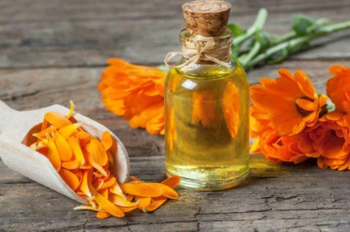 aceite de caléndula para la piel