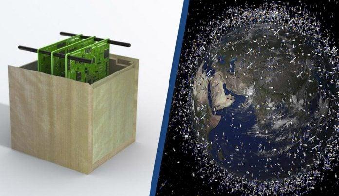 satélites de madera Japón