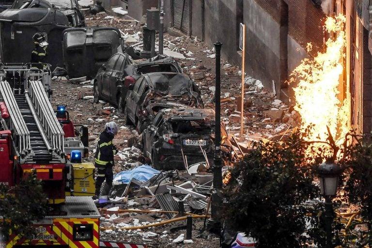 GALERÍA| Las impactantes fotos del desastre que dejó la explosión en Madrid