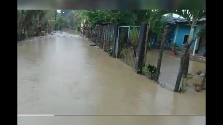 VÍDEO  Se desbordan ríos en Omoa: más de 200 familias afectadas por lluvias