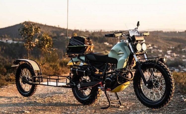 Yamaha TW125 modificada, capaz de dominar cualquier camino