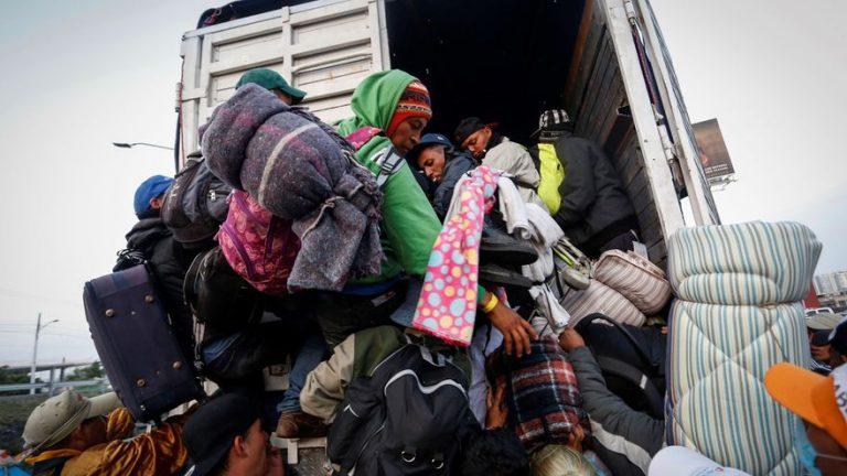Guardia mexicana encuentra nueve hondureños hacinados en un camión
