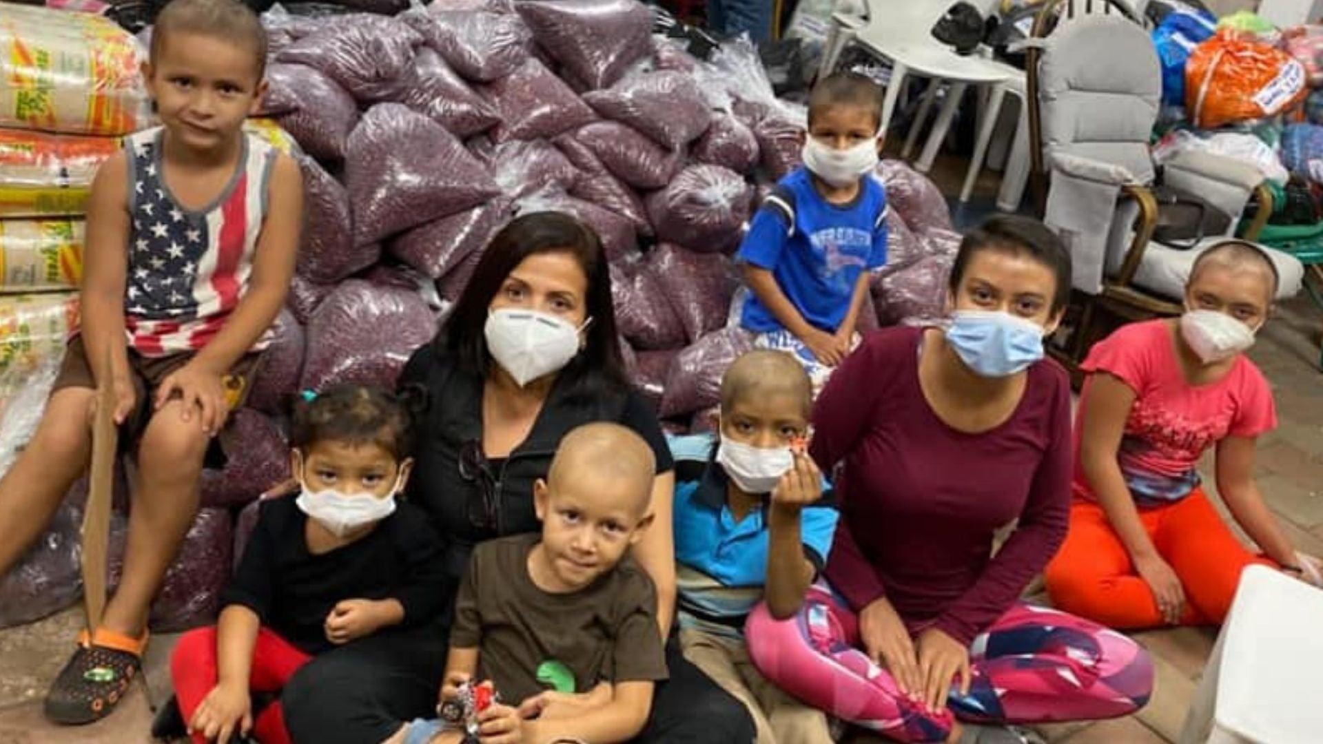 Niños con cáncer damnificados