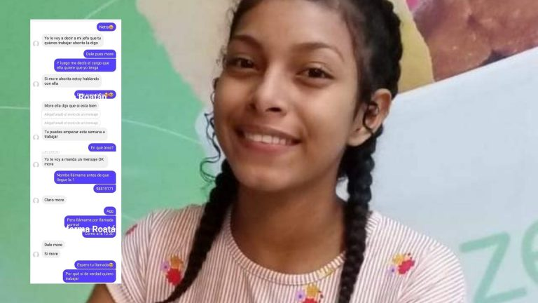 Alba, de 15 años, le ofrecieron trabajo por Facebook y fue asesinada en Roatán