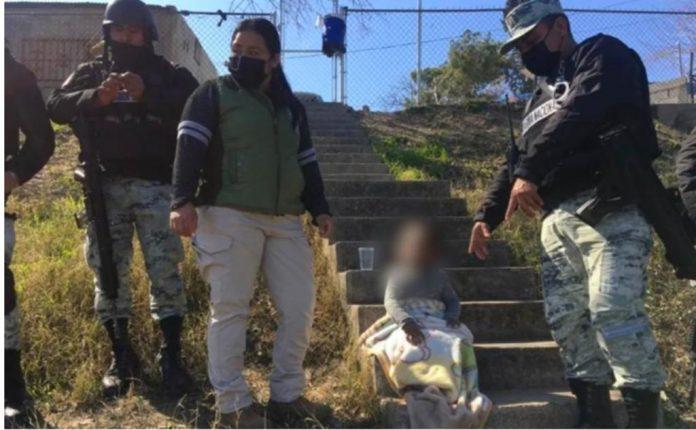 rescatan niña migrante en río Bravo