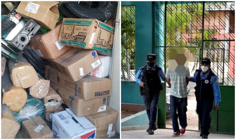 Detienen presunto responsable de robar camión con más de L 1 millón en mercadería