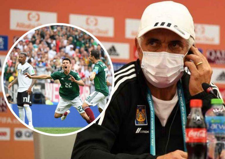 """""""Tuca"""" Ferretti motiva a Tigres con la victoria de México ante Alemania en Rusia 2018"""