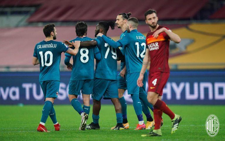 El Milan no desiste en la lucha por el Scudetto y triunfa en el Olímpico