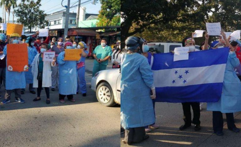 Médicos del IHSS-SPS protestan otra vez: Queremos «mascarillas N95», dicen