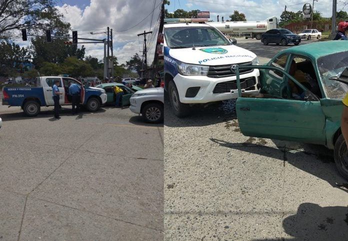 mujeres accidente patrulla SPS
