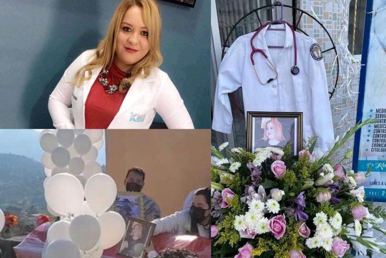 Mientras siete familiares luchan contra el COVID, dan último adiós a la doctora Karen Tábora