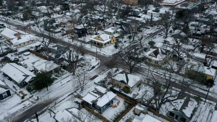 Tormenta de nieve en Texas.