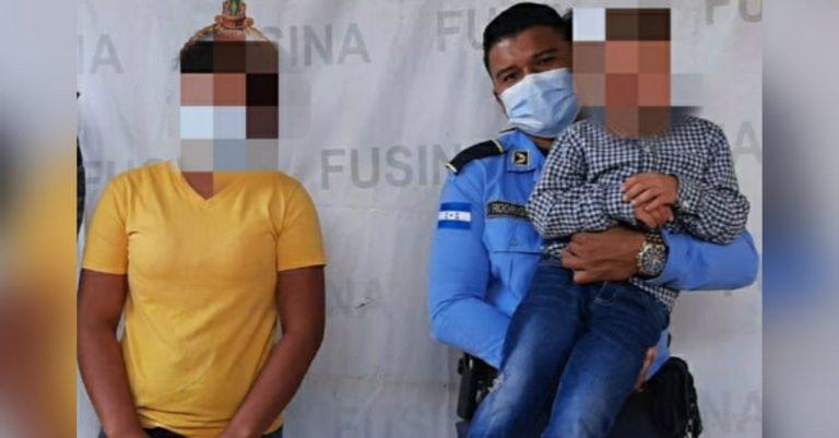 Recuperan a niño que había sido secuestrado por su propio padre en Olancho