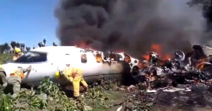 Accidente avión México