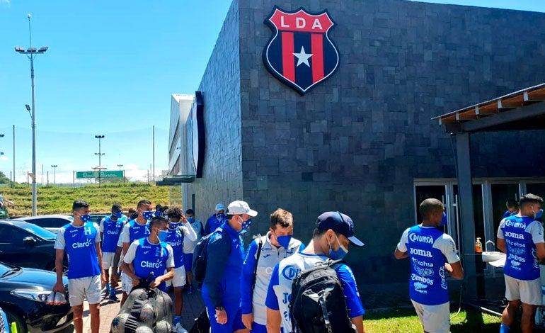 Sub-23 de Honduras entrena en el complejo del Alajuelense previo a su partido contra Costa Rica