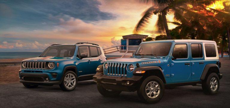Jeeps Wrangler y Renegade debutan con vibraciones veraniegas