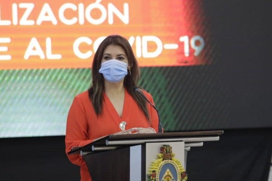 Alba Consuelo Flores, ministra de Salud.