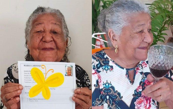 Abuelita 101 años busca trabajo