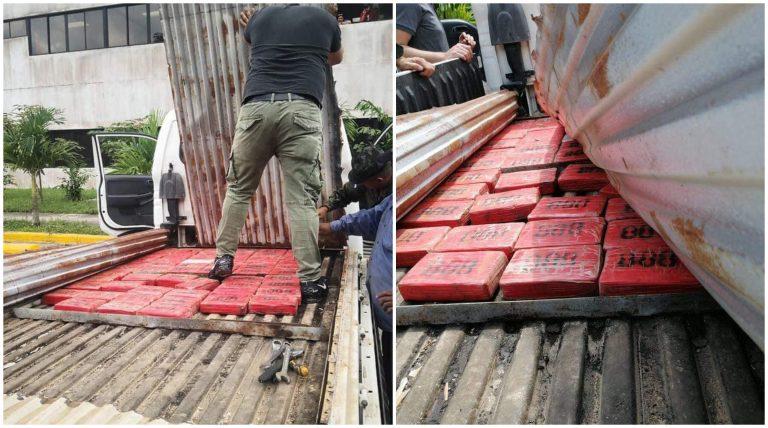 SPS: reportan hallazgo de 60 kilos de presunta cocaína oculta en camión